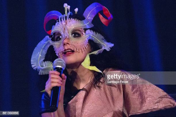 Bjork onstage during Pitchfork's 'In Sight Out' Series on November 28 2017 in New York City