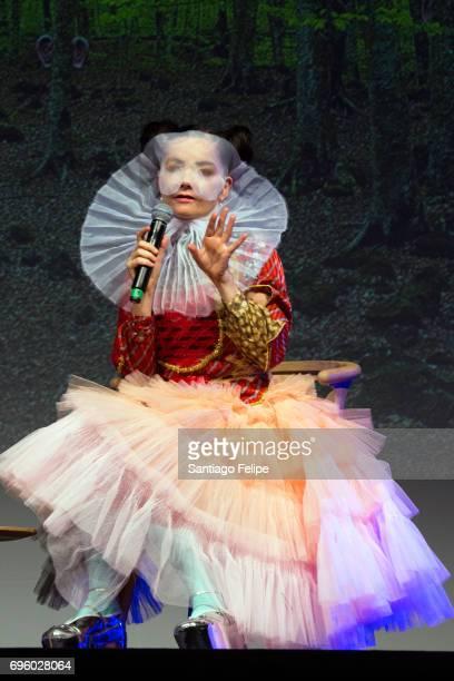 Bjork onstage during Sonar Music Festival 2017 QA on June 14 2017 in Barcelona Spain
