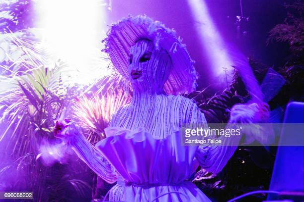 Bjork performs a DJ set onstage during Sonar Festival 2017 on June 14 2017 in Barcelona Spain