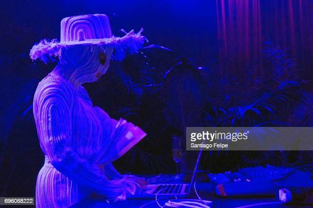 Bjork performs a DJ set onstage during Sonar Festival 2017 on June 14 2017 in Barcelona Spain