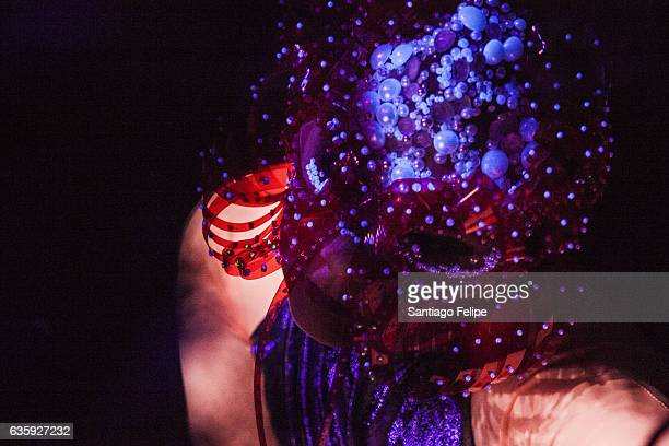 Bjork performs DJ set during Day For Night 2016 at Barbara Jordan Post Office on December 16 2016 in HOUSTON TX