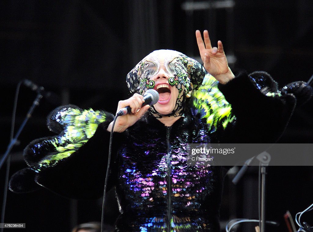 Bjork performs during 2015 Governors Ball Music Festival at Randall's Island on June 6, 2015 in New York City.