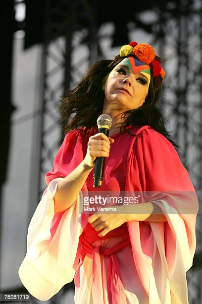 Bjork performs in concert at Westerpark on July 8th 2007 in Amsterdam Nertherlands
