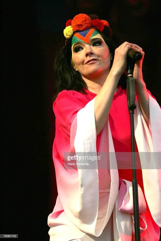 Bjork performs in concert at Westerpark on July 8th, 2007 in Amsterdam, Nertherlands