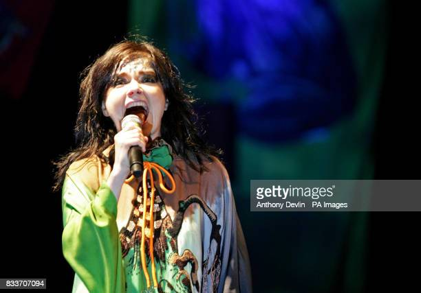 Bjork performs on the Other stage at the 2007 Glastonbury Festival at Worthy Farm in Pilton Somerset