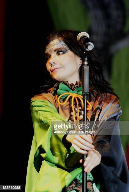 Bjork performs on the Other stage at the 2007 Glastonbury Festival at Worthy Farm in Pilton Somerset PRESS ASSOCIATION Photo Friday 22 June 2007 The...