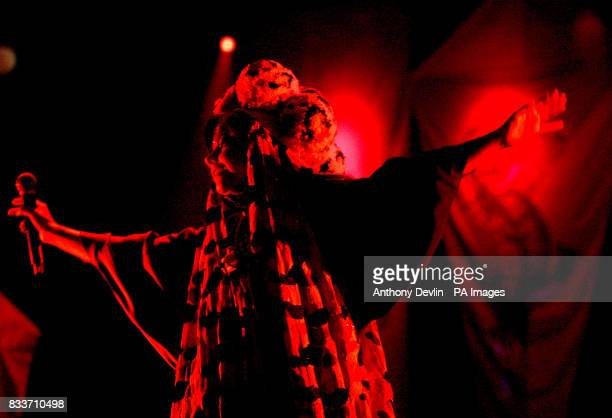 Bjork performs on the Pyramid stage at the 2007 Glastonbury Festival at Worthy Farm in Pilton Somerset PRESS ASSOCIATION Photo Friday 22 June 2007...