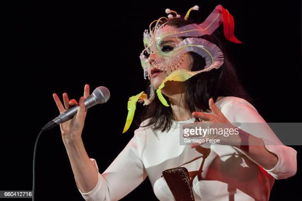 Bjork performs onstage at Auditorio Nacional on March 29 2017 in Mexico City Mexico