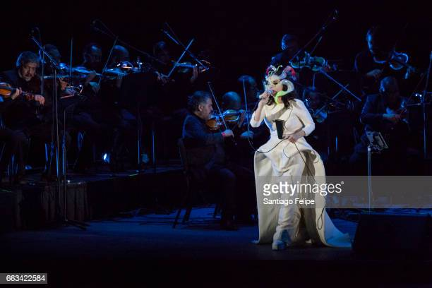 Bjork performs onstage at Auditorio Nacional on March 29 2017 in Mexico City Mexico
