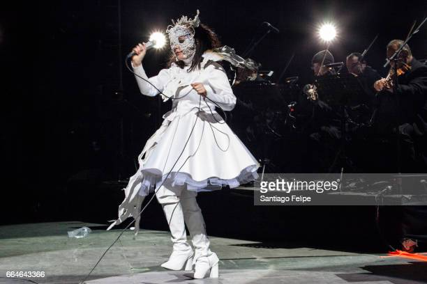 Bjork performs onstage at the 2017 Ceremonia Festival on April 02 2017 in Toluca Mexico