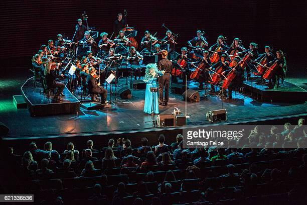 Bjork performs onstage during Iceland Airwaves Music Festival on November 5 2016 at Harpa Concert Hall in Reykjavik Iceland on November 5 2016 in...