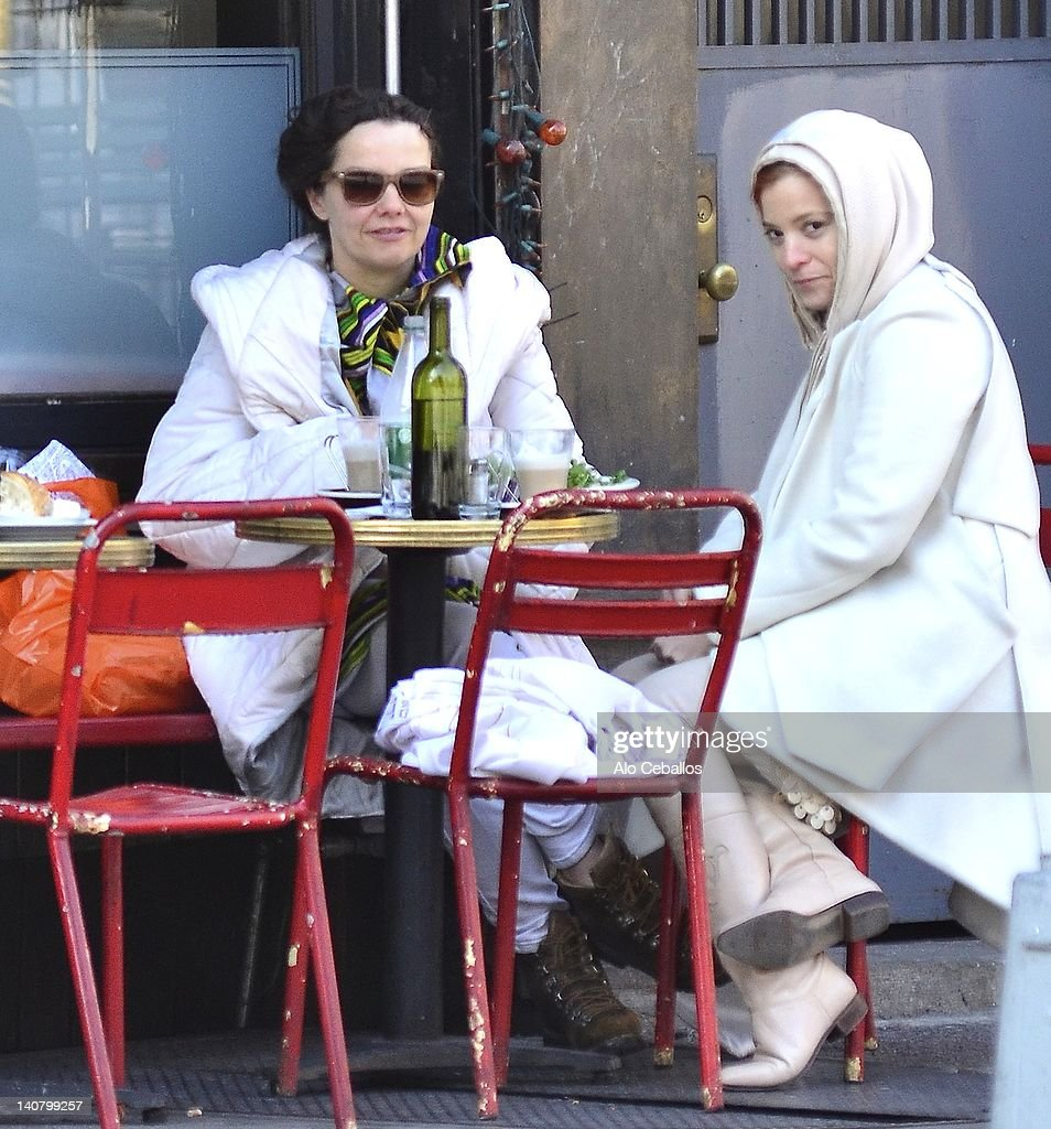 Bjork (L) sighting on the streets of Manhattan on March 6, 2012 in New York City.