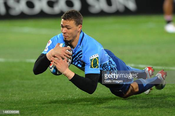 Bjorn Basson of the Bulls in action during the Super Rugby match between Vodacom Bulls and MTN Lions at Loftus Versfeld on July 14 2012 in Pretoria...