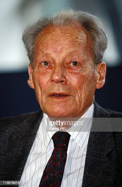 Bjorn Engholm new SPD president In Germany In July 1992Willy Brandt