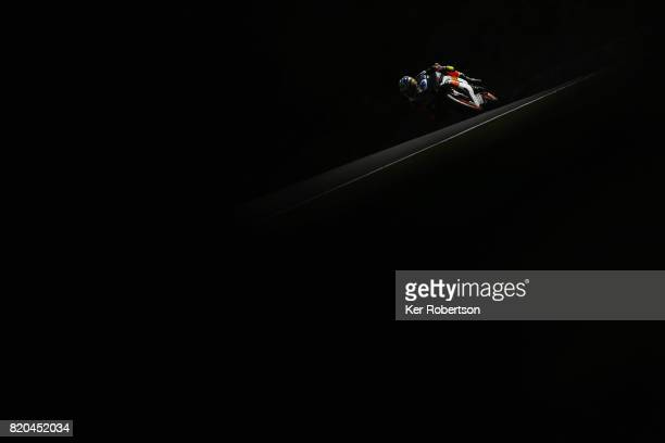 Bjorn Estment of Everquip Racing rides during practice for the Dickies British Supersport Championship at Brands Hatch on July 21 2017 in Longfield...