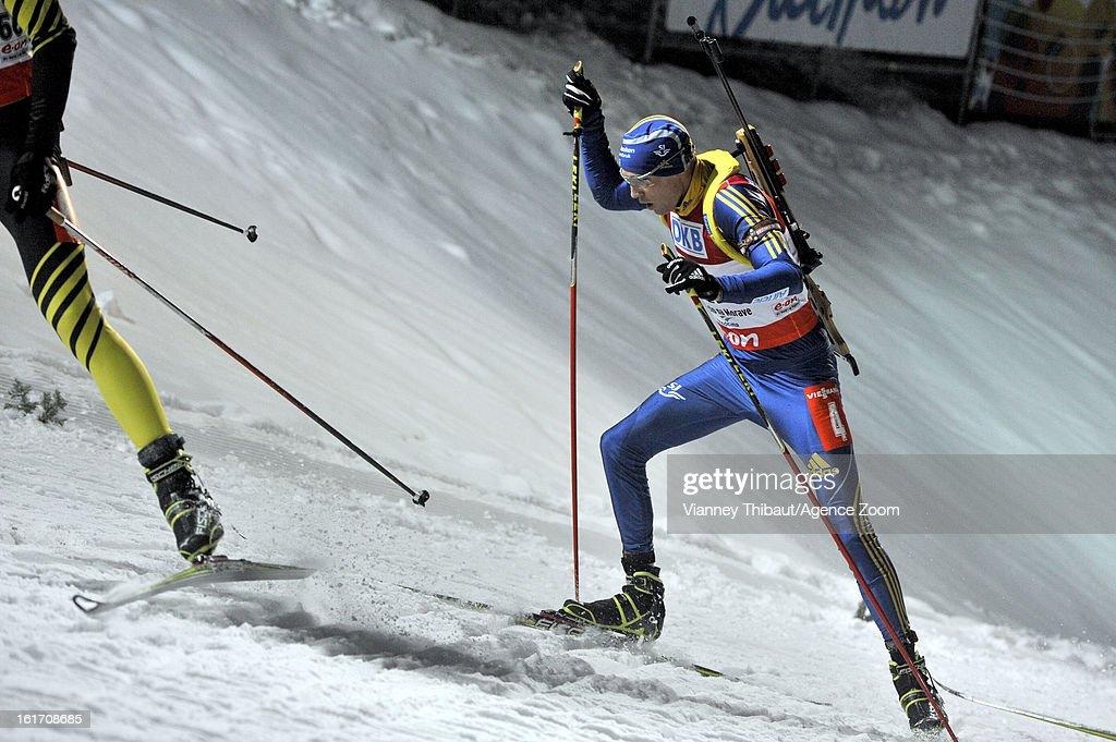 Bjorn Ferry of Sweden competes during the IBU Biathlon World Championship Men's 20km Individual on February 14, 2013 in Nove Mesto, Czech Republic.