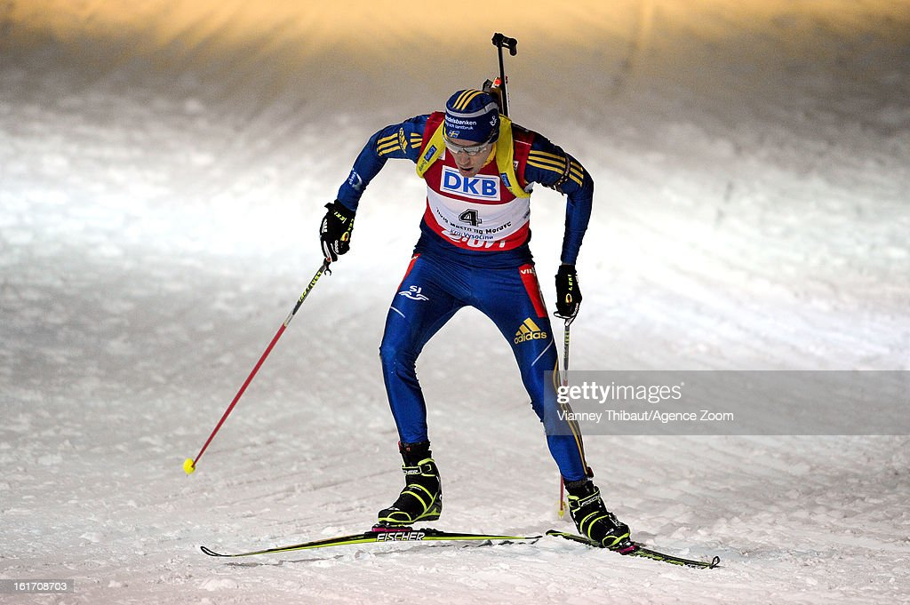Bjorn Ferry of Sweden competes during the IBU Biathlon World Championship Men's 20km Individual on February 14, 2013 in Nove Mesto, Czech Republic.