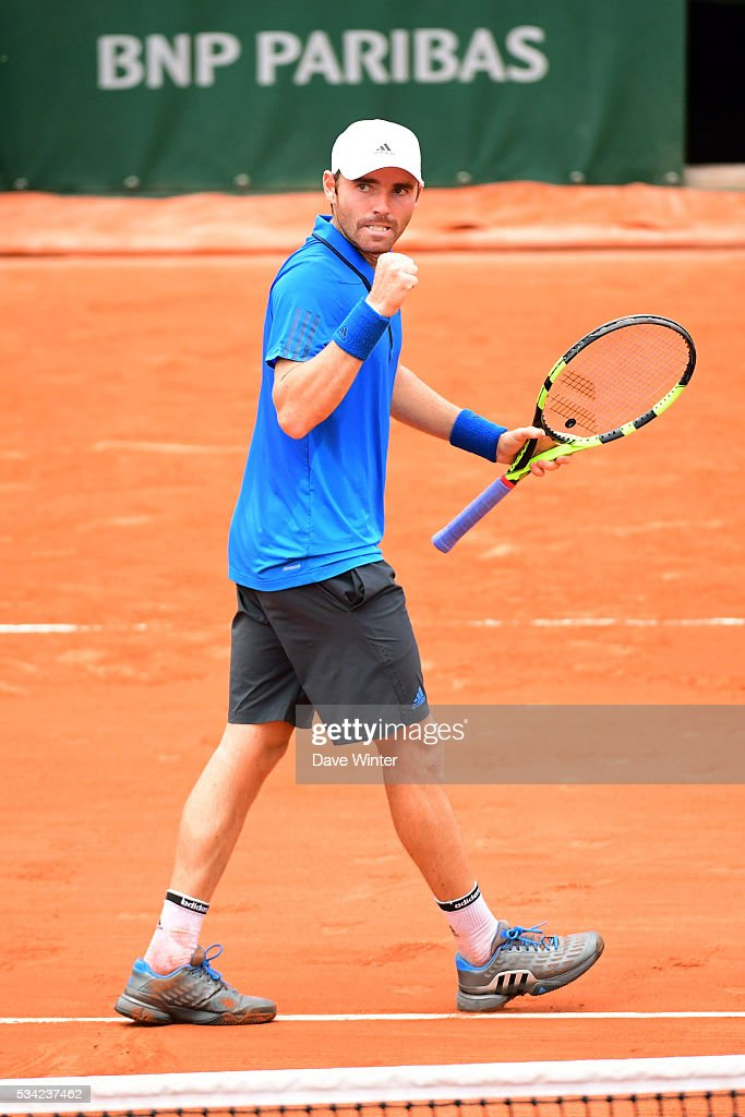 Bjorn Fratangelo during the Men's Singles second round on day four of the French Open 2016 at Roland Garros on May 25, 2016 in Paris, France.