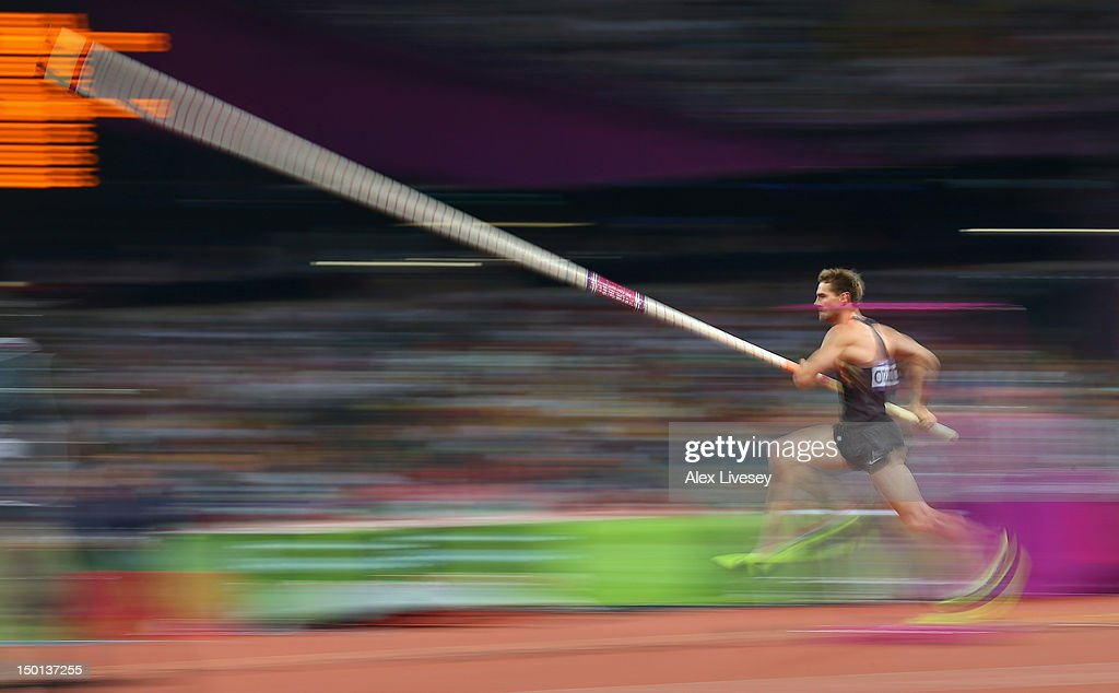 <a gi-track='captionPersonalityLinkClicked' href=/galleries/search?phrase=Bjorn+Otto&family=editorial&specificpeople=2543892 ng-click='$event.stopPropagation()'>Bjorn Otto</a> of Germany competes in the Men's Pole Vault Final on Day 14 of the London 2012 Olympic Games at Olympic Stadium on August 10, 2012 in London, England.
