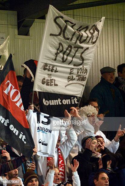 Bjorn Ruytinx of OHL Leuven fans supporters during the Jupiler League match between Oud Herverlee Leuven OHL and KV Oostende on December 14 2013 in...