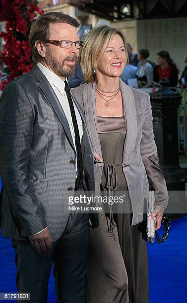 Bjorn Ulvaeus and his wife Fridea Reuss at the World Premiere of Mamma Mia the movie at The Odeon in Leicester Square June 30 2008 in London