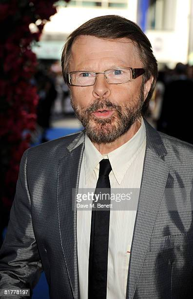 Bjorn Ulvaeus arrives at the UK film premiere of 'Mamma Mia' the Movie at the Odeon Leicester Square on June 30 2008 in London England