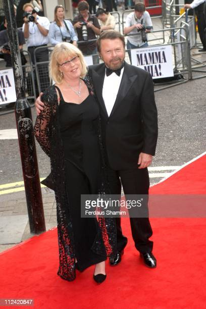 Bjorn Ulvaeus of ABBA and guest during The Royal Gala Charity Performance of 'Mamma Mia' at The Prince of Wales Theatre in London Great Britain