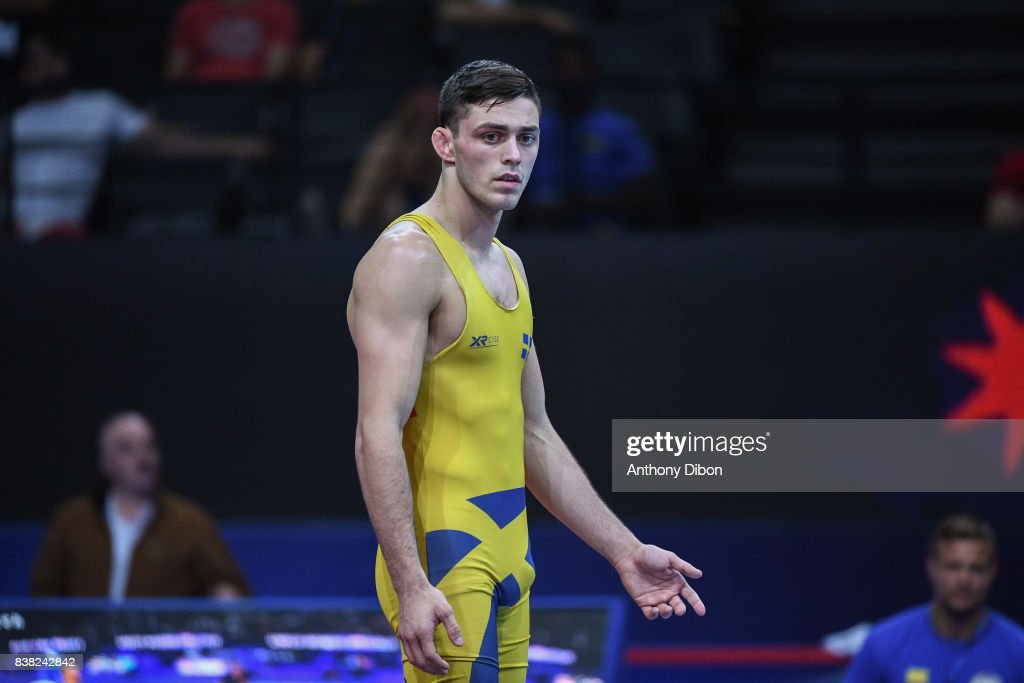 Bjurberg Kes A of Sweden during the Men's 80 Kg Greco-Roman competition during the Paris 2017 World Championships at AccorHotels Arena on August 22, 2017 in Paris, France.