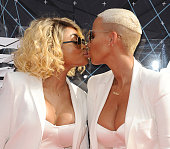 Blac Chyna and Amber Rose attend the 2015 BET Awards at the Microsoft Theater on June 28 2015 in Los Angeles California