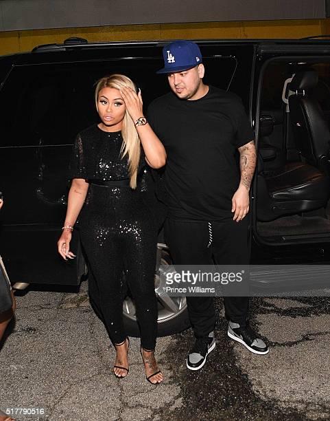 Blac Chyna and Rob Kardashian at Onyx Nightclub on March 27 2016 in Atlanta Georgia