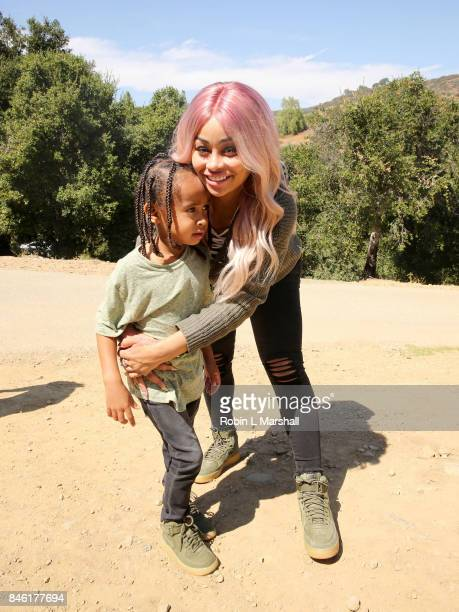 Blac Chyna and son King Cairo attend 'The LEGO Ninjago Movie' Back to School Bash on September 9 2017 in Thousand Oaks California