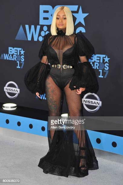 Blac Chyna arrives at the 2017 BET Awards at Microsoft Theater on June 25 2017 in Los Angeles California
