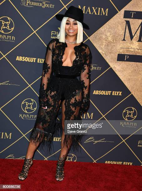 Blac Chyna arrives at the The 2017 MAXIM Hot 100 Party at Hollywood Palladium on June 24 2017 in Los Angeles California