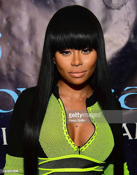 Blac Chyna attends Masquerade Launch for Conceal Virgin Hair at Time Restaurant on October 29 2015 in Atlanta Georgia