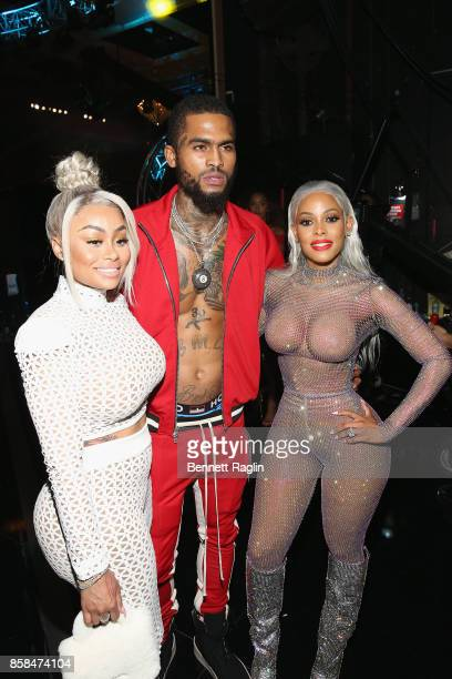 Blac Chyna Dave East Keyshia Ka'oir attend the BET Hip Hop Awards 2017 at The Fillmore Miami Beach at the Jackie Gleason Theater on October 6 2017 in...