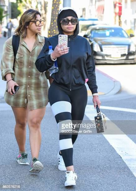 Blac Chyna is seen on October 17 2017 in Los Angeles California