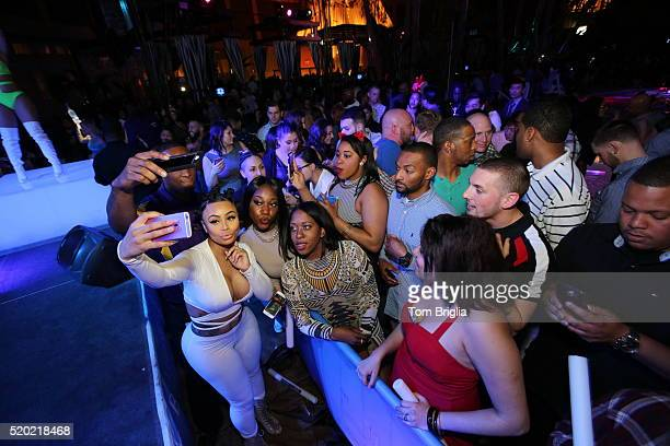Blac Chyna shows off her new ring while hosted at The Pool After Dark Harrah's Atlantic City on April 9 2016 in Atlantic City NJ