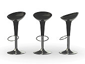 black 3d bar chair
