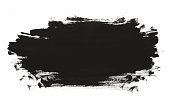 Black abstract watercolor paint brush texture