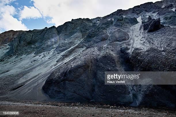 Black and grey rock side in Landmannalaugar
