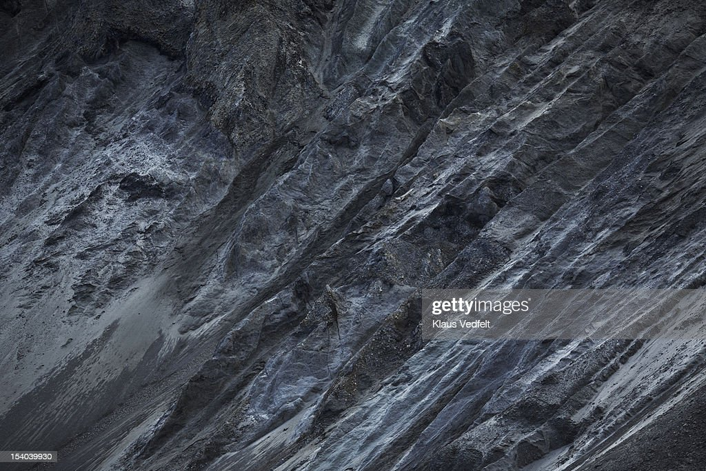 Black and grey rock side : Stock Photo