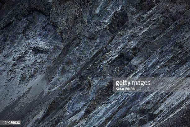 Black and grey rock side