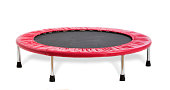 Trampoline - isolated on white