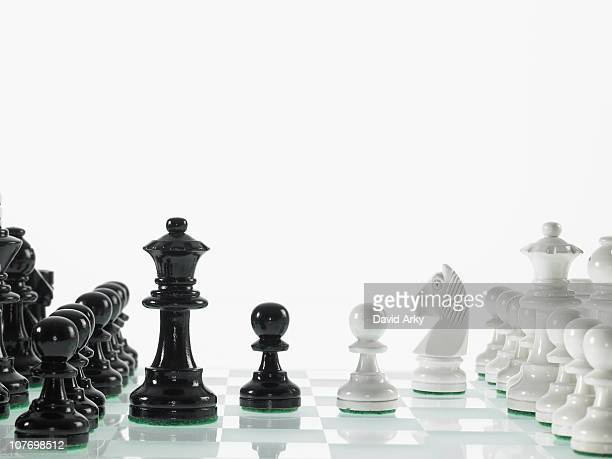 Black and white chess teams