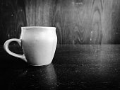 black and white cup of tea