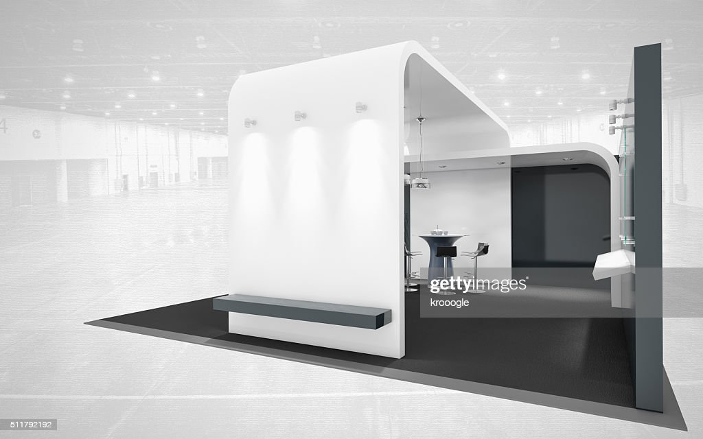 Exhibition Stand White : Black and white exhibition stand stock photo thinkstock
