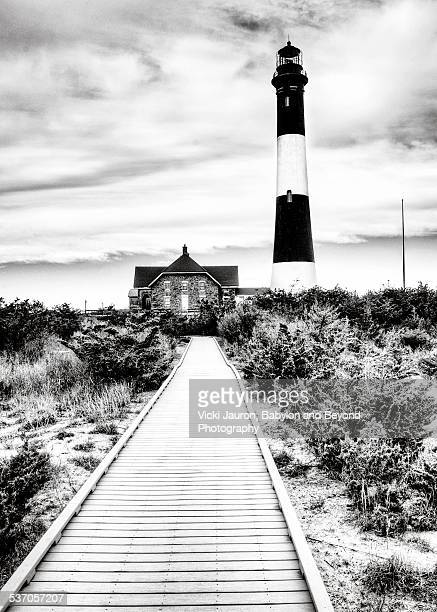 Black and White Fire Island Lighthouse