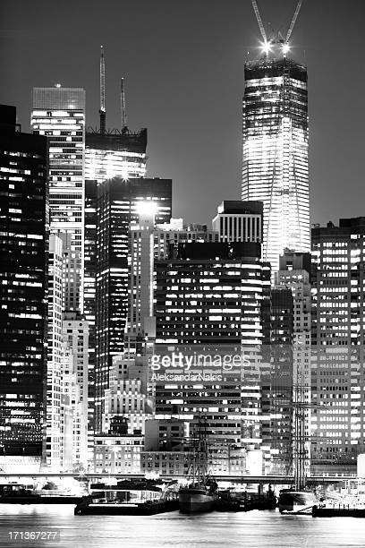 Black and white New York City