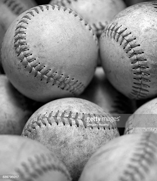 Black and White photo of Softballs