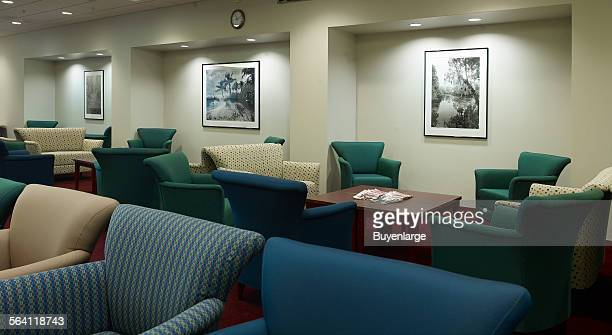 Black and white photographs in Jury Assembly Room first floor of US Courthouse Orlando Florida